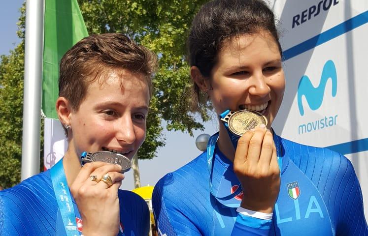 Apoteosi d'oro per Elena Cecchini ed Edoardo Affini nelle crono. Lisa Morzenti d'argento