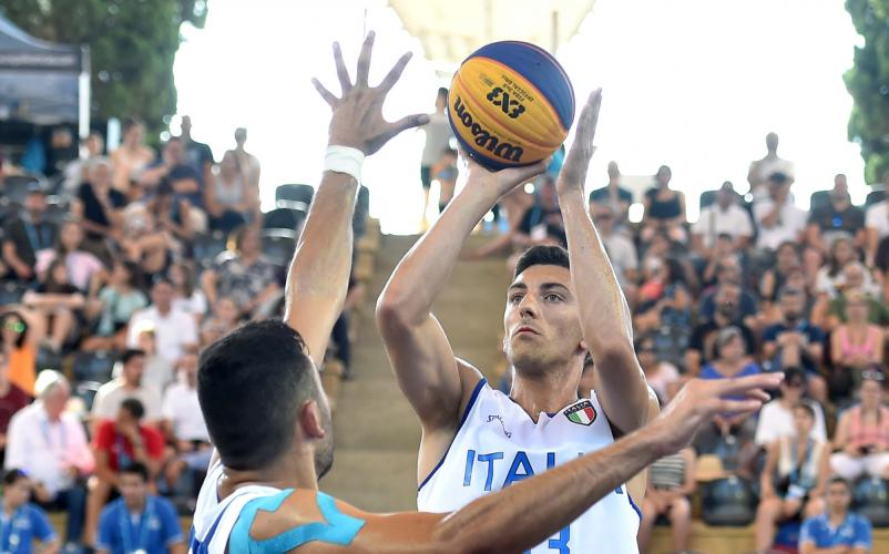 Azzurri del basket 3x3 d'argento. Che lotta con i francesi!